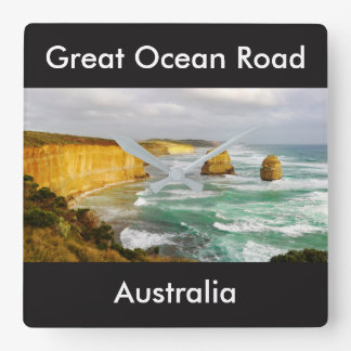 Reloj de pared cuadrado de Australia del gran