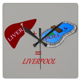 Reloj de pared cuadrado de Liverpool