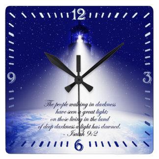 Reloj de pared cuadrado del navidad del 9:2 de