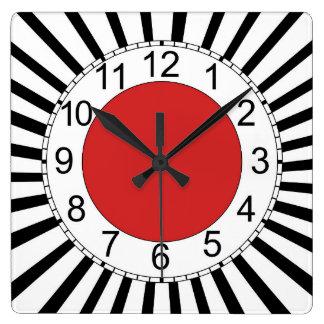 Reloj de pared cuadrado, diseño moderno