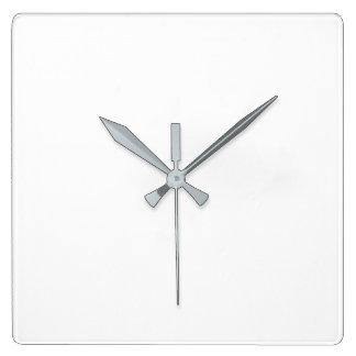 Reloj de pared cuadrado - manos grises