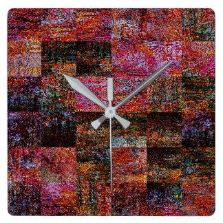 Reloj de pared de acrílico del remiendo