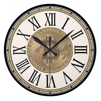 Reloj de pared de Bitcoin de los cazadores de