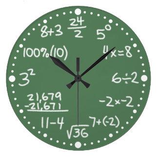 Reloj de pared de encargo de la matemáticas de las