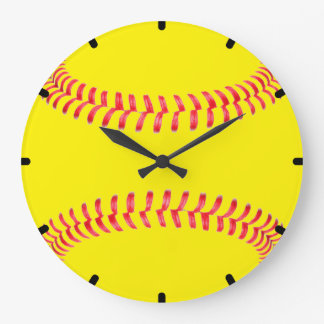 Reloj de pared de encargo del softball