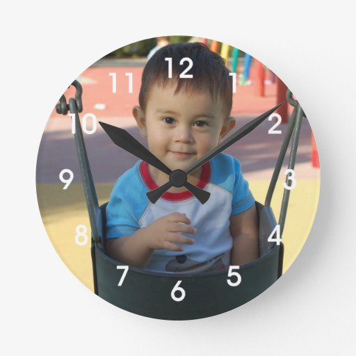 Reloj de pared de encargo personalizado de la foto