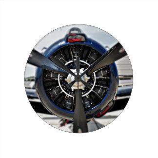 Reloj de pared de la aviación