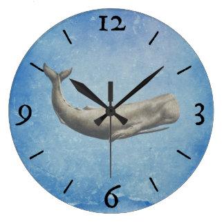 Reloj de pared de la ballena de Moby-Dick