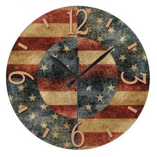 Reloj de pared de la bandera americana