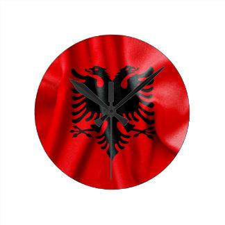 Reloj de pared de la bandera de Albania