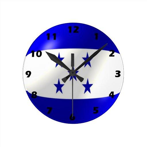 Reloj de pared de la bandera de honduras zazzle - Reloj de pared diseno ...
