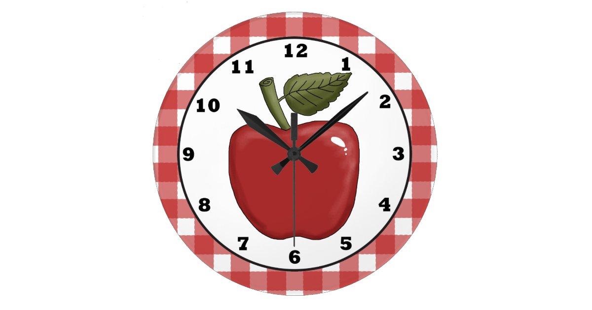 Reloj redondo grande country apple cartoon kitchen wall clock - Reloj de pared para cocina ...