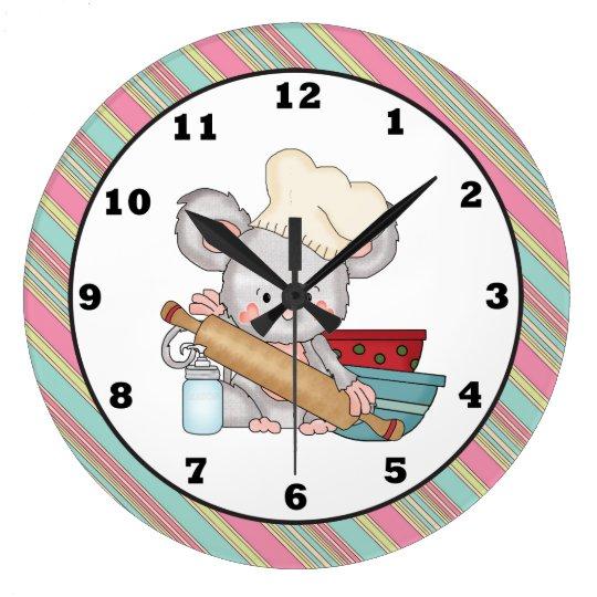 Reloj de pared de la cocina del dibujo animado del - Relojes de pared de cocina ...