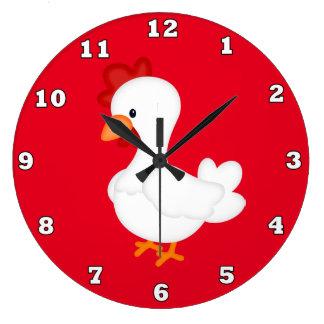 Reloj de pared de la cocina del gallo del país