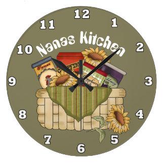 Reloj de pared de la comida de la diversión de la