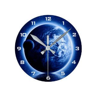 Reloj de pared de la fantasía de la tierra y de la