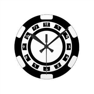 Reloj de pared de la ficha de póker