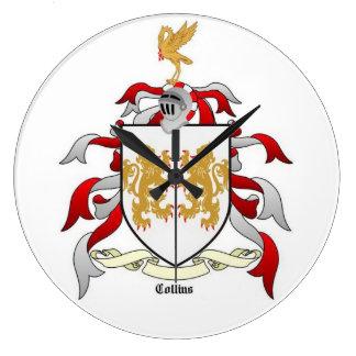 Reloj de pared de la heráldica del escudo de la