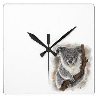 Reloj de pared de la koala del bebé