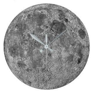 Reloj de pared de la luna