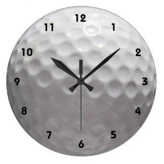 Reloj de pared de la pelota de golf con números