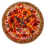Reloj de pared de la pizza de la pizzería