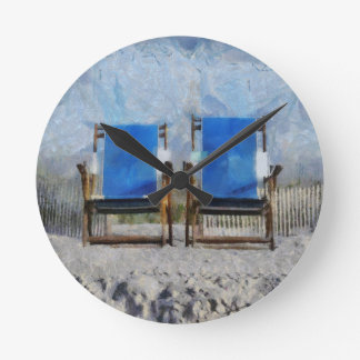 Reloj de pared de la silla de playa