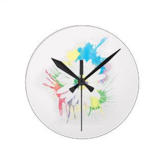 Reloj de pared de la silueta de la flor de la