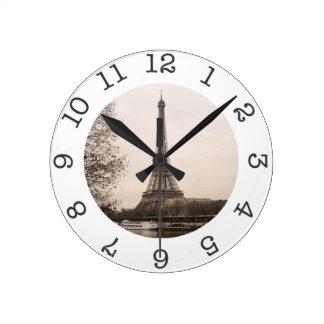 Reloj de pared de la torre Eiffel