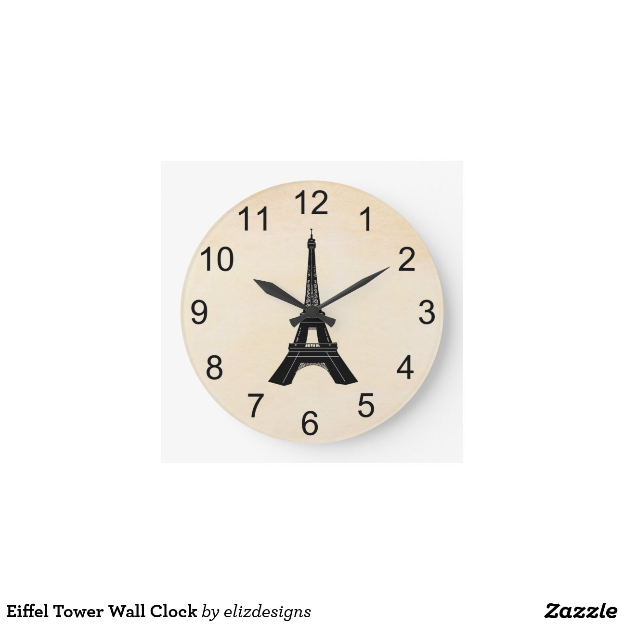 Reloj de pared de la torre eiffel zazzle - Relojes de pared diseno ...