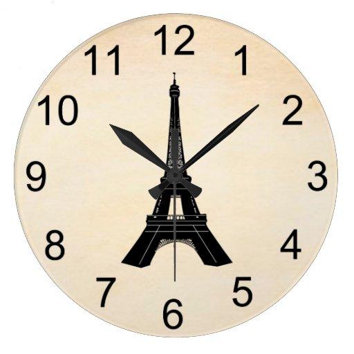 Reloj de pared de la torre eiffel zazzle - Relojes de pared personalizados ...
