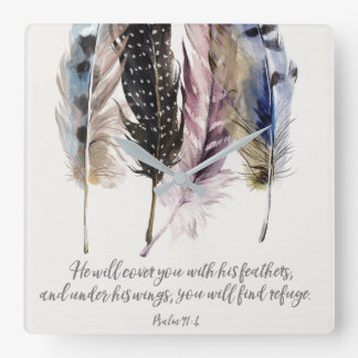 Reloj de pared de las plumas