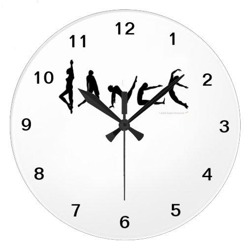 Reloj de pared de las siluetas de los bailarines d zazzle - Reloj de pared diseno ...