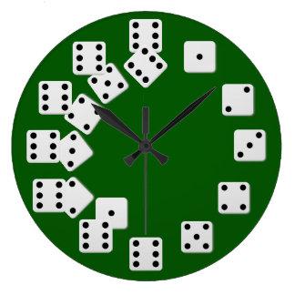 Reloj de pared de los dados