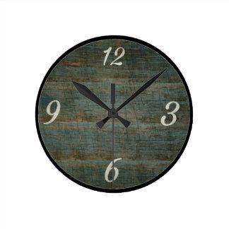 Reloj de pared de madera de la mirada del vintage