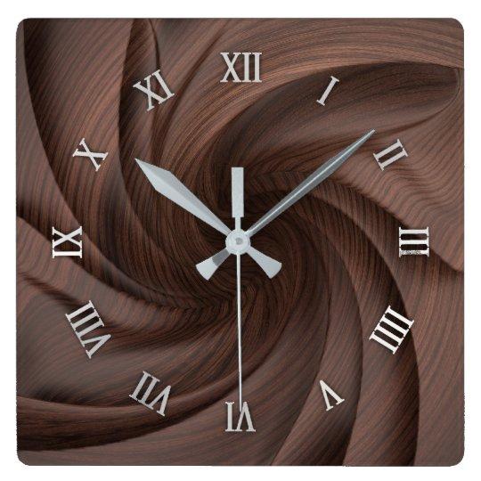 Reloj de pared de madera oscuro del diseño