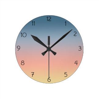 Reloj de pared de Ombre de la puesta del sol