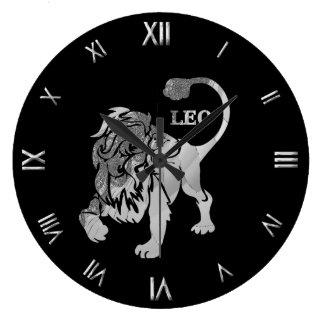 Reloj de pared de plata del símbolo del zodiaco de