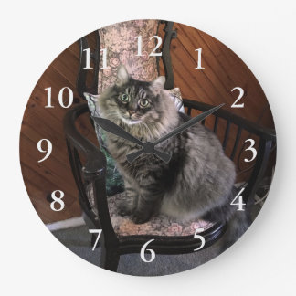 Reloj de pared de rey Cat Kimber Numbered