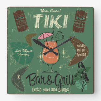 Reloj de pared de Tiki Bar&Grill