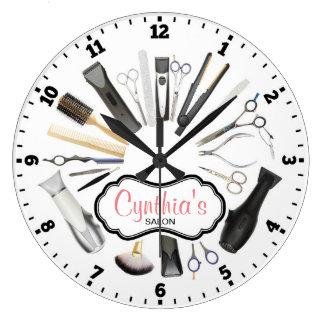 Reloj de pared decorativo del salón de pelo