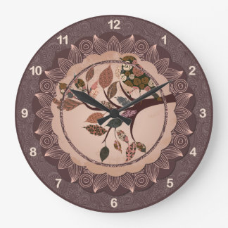 Reloj de pared decorativo elegante del pájaro