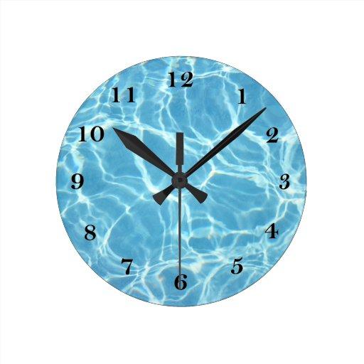 Reloj de pared del agua de la piscina zazzle for Reloj piscina