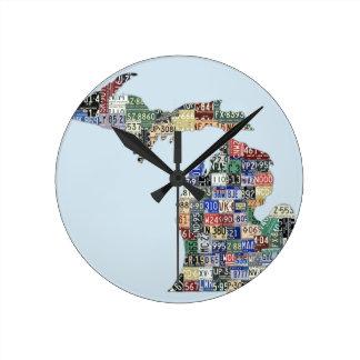 Reloj de pared del arte de la placa de los