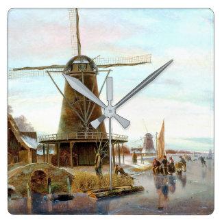 Reloj de pared del barco de canal de Holanda del