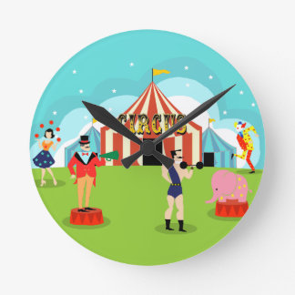 Reloj de pared del circo del vintage
