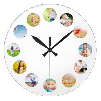 Reloj de pared del collage de la foto con sus
