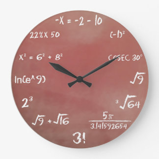 Reloj de pared del concurso de la matemáticas