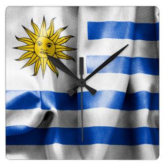 Reloj de pared del cuadrado de la bandera de
