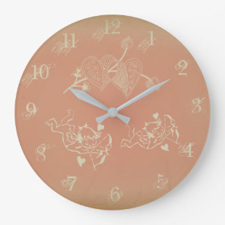Reloj de pared del Cupid de Julia Everhart